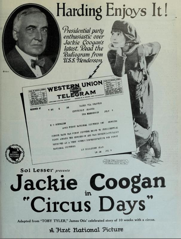 silent film, presidential campaigns, presidential endorsement